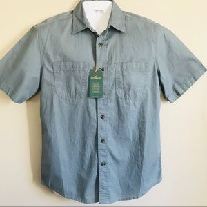 Outdoor Life Men's Pale Gray Button Down Shirt